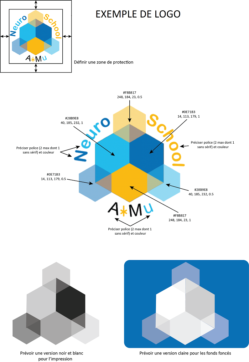 Exemple Logo neuromarseille concours de création de logo neuroschool   neuromarseille
